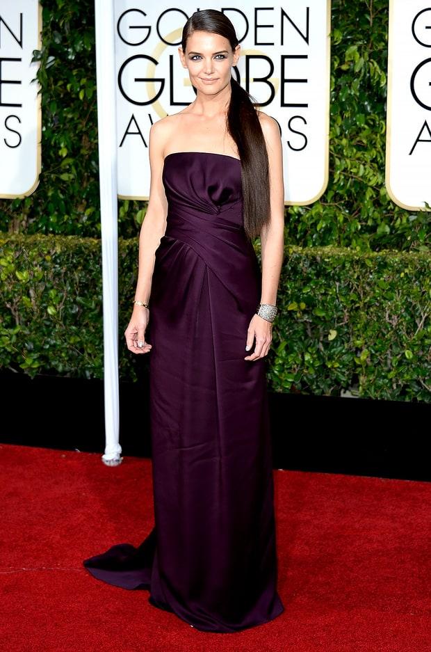 Katie Holmes Golden Globes 2015 Red Carpet Fashion Best