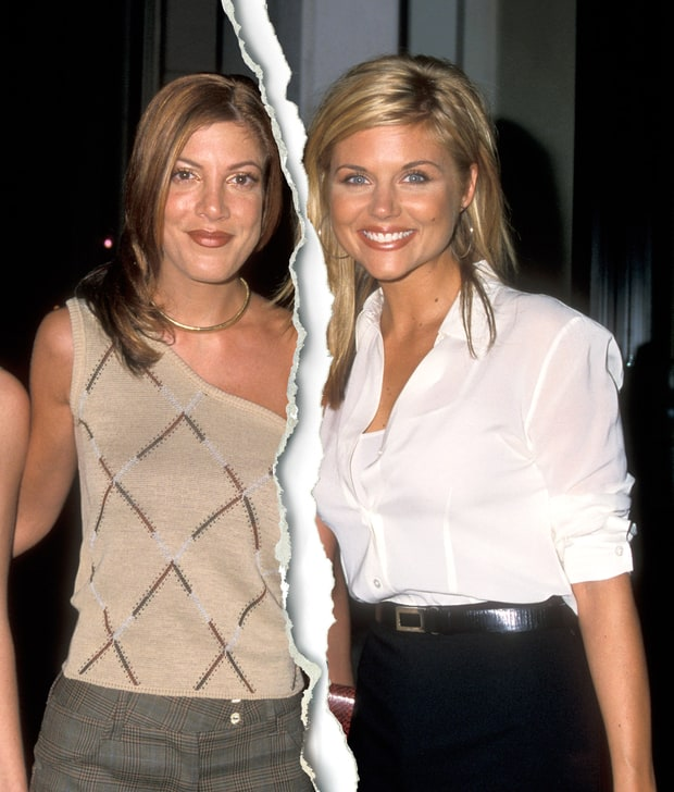 Tori Spelling and Tiffani Thiessen