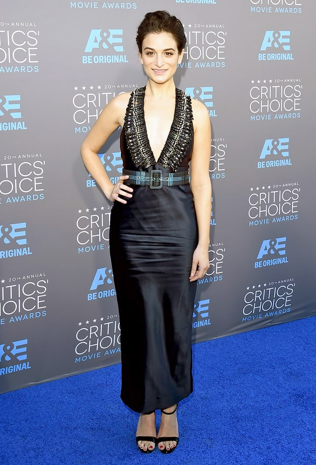 Jenny slate critics choice awards 2015 red carpet fashion what the