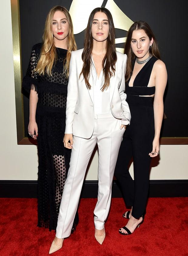Este Danielle And Alana Haim Grammys 2015 Red Carpet