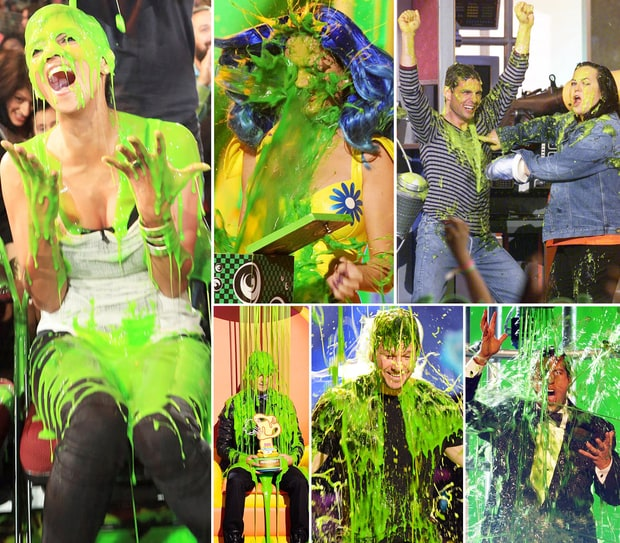 Stars Getting Slimed at the Kids' Choice Awards