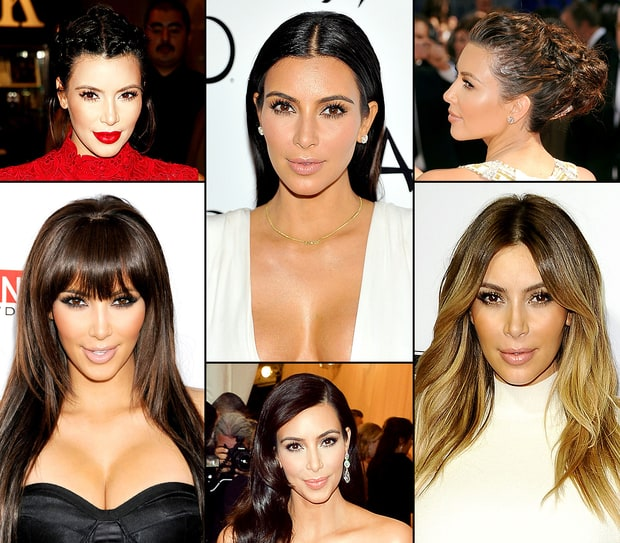 Kim Kardashian's Best Hairstyles Ever