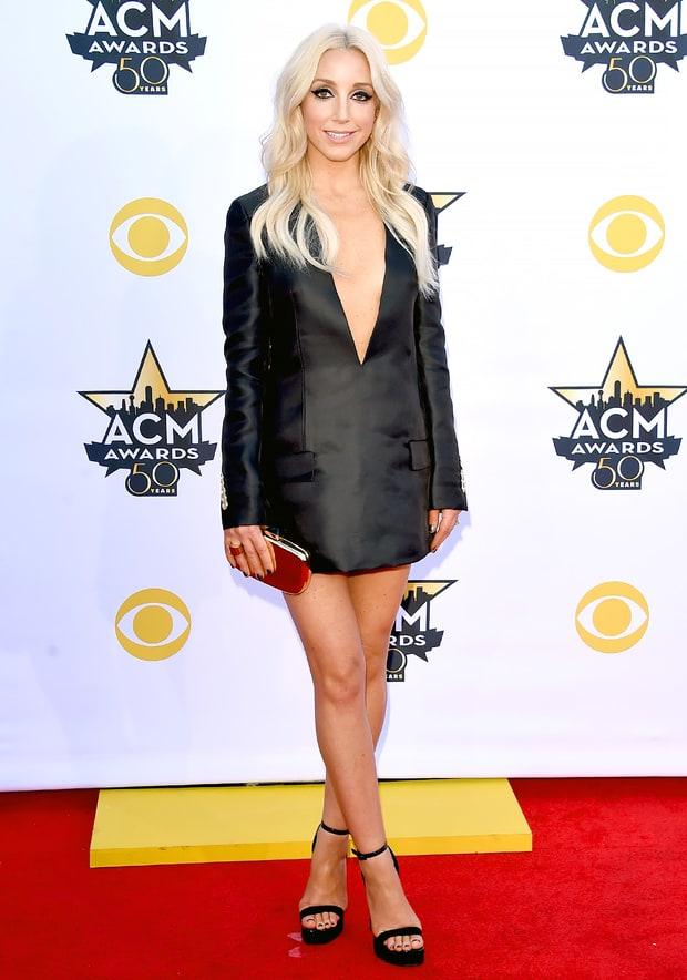 ashley monroe academy of country music awards 2015 red