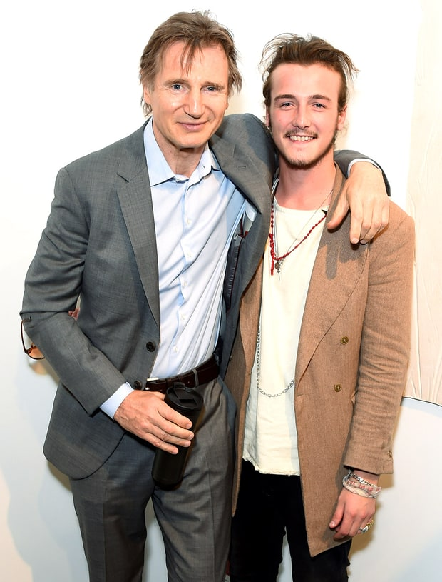 Liam Neeson Father And Son Hot Pics Us Weekly