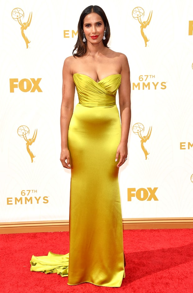 Padma lakshmi emmys 2015 red carpet fashion best dressed stars us