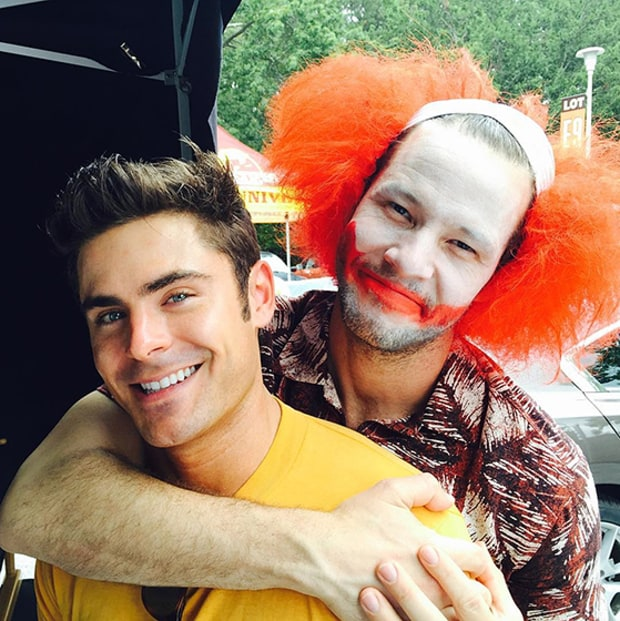 Zac efron and ike barinholtz stars on movie sets us weekly