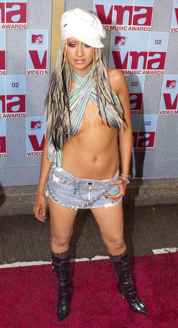 Image result for Christina Aguilera at the 2002 MTV Video Music Awards