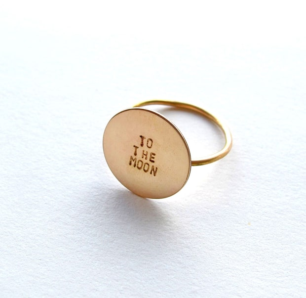 Katherine Stuart Design 'To the Moon' Circle Ring