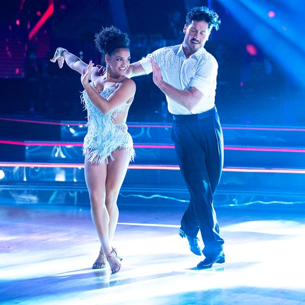 Dancing With The Stars Judges Award Laurie and Val Chmerkovskiy First Perfect Score of the Season
