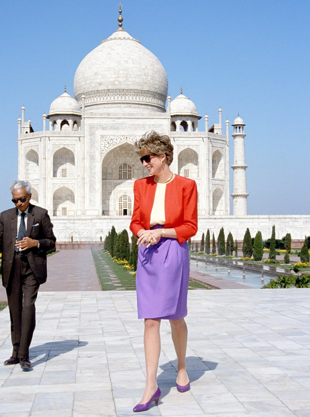 Princess Diana famous taj mahal visit and picture