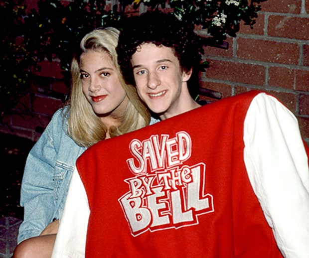 Tori Spelling saved by the bell