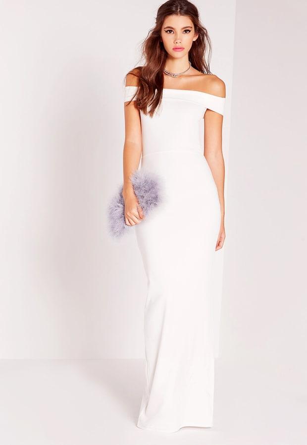 Bardot Maxi Dress White