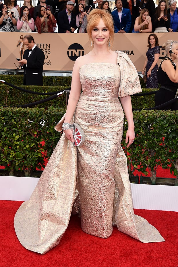 Christina Hendricks | SAG Awards 2016 Red Carpet Fashion: What the ... Beauty And The Beast Belle Pink Dress