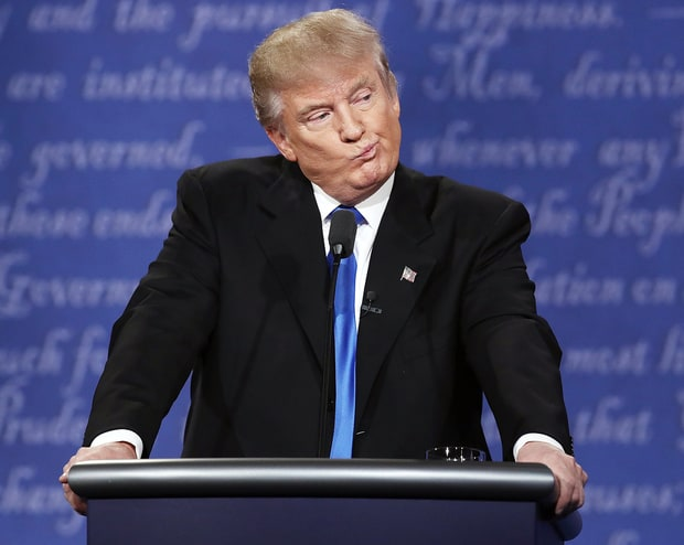 Image result for picture of trump at the first debate