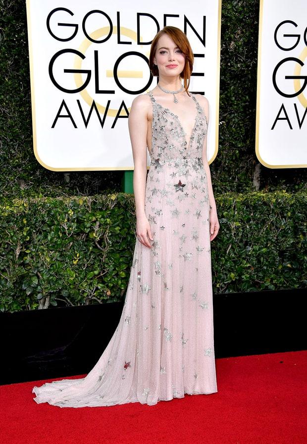 Emma Stone | Golden Globes 2017 Red Carpet: Best Dressed ...  Emma Stone Golden Globes