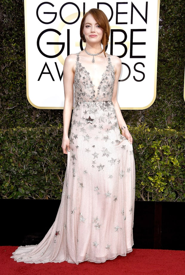 Emma Stone | Golden Globes 2017 Red Carpet Fashion: What ... Emma Stone Golden Globes