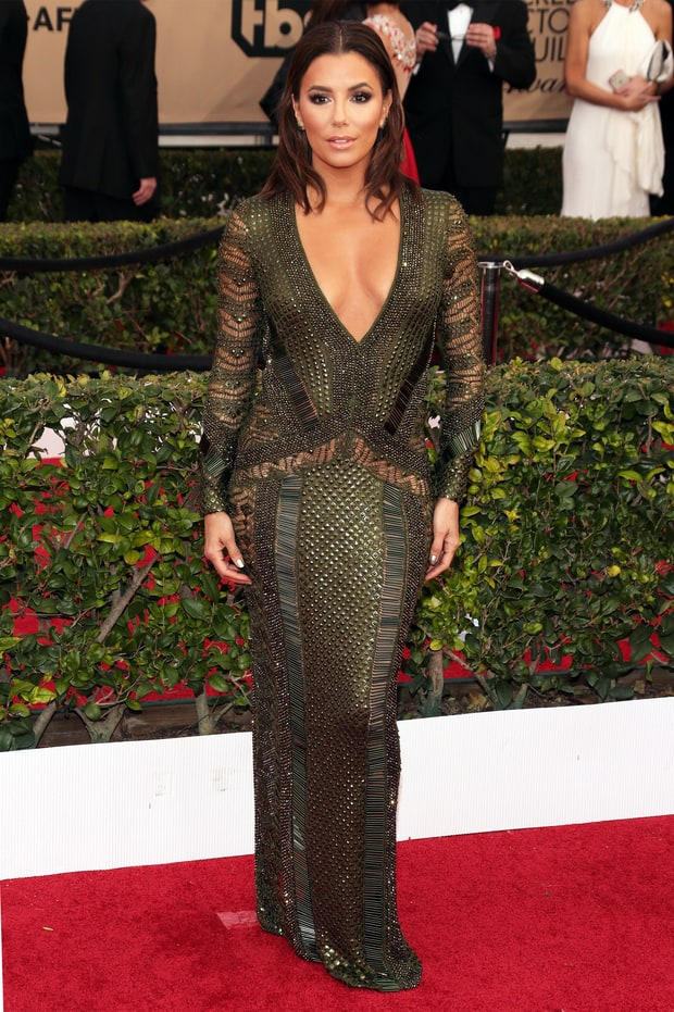 Eva Longoria | SAG Awards 2016 Red Carpet Fashion: What the Stars Wore ... Beauty And The Beast Belle Pink Dress