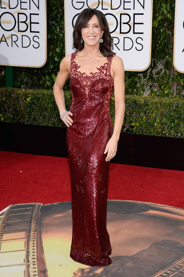 Felicity Huffman Golden Globes 2016 Red Carpet Fashion