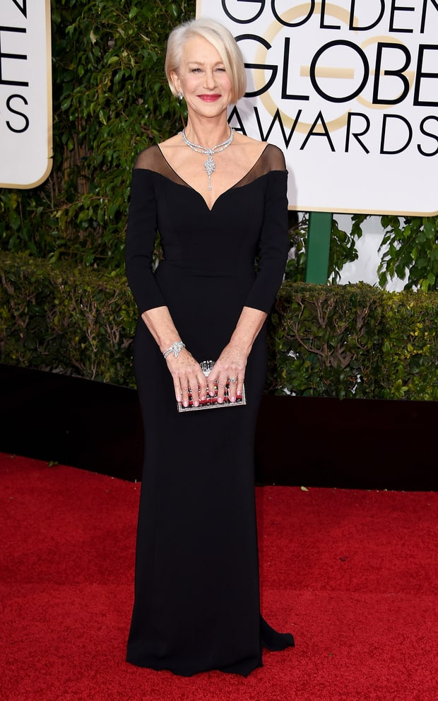 Helen Mirren Golden Globes 2016 Red Carpet Best Dressed Stars Us Weekly