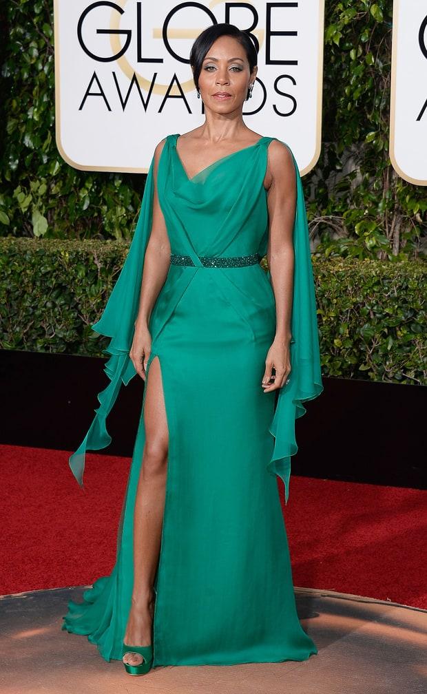 Jada Pinkett Smith Golden Globes 2016 Red Carpet Fashion