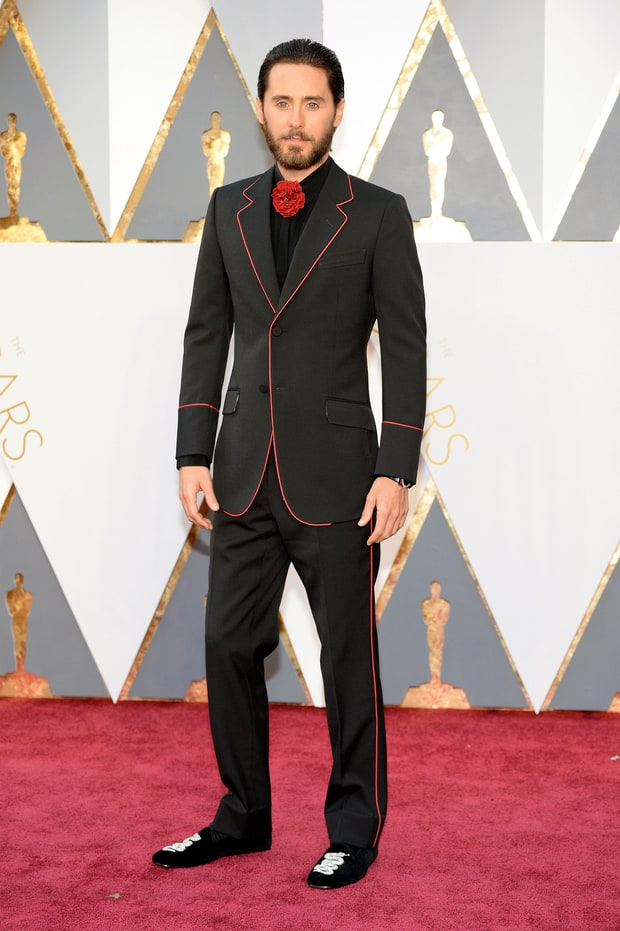 Jared Leto | Oscars 2016 Red Carpet Fashion: Men in Tuxes ...