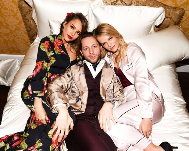 This Is What a High-Fashion Pajama Party Chock-Full of Celebs Looks Like