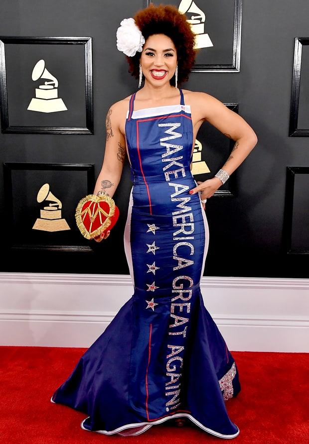 Robe de soirée bleu sirène sur Grammy Awards 2017 Steve Granitz/WireImage