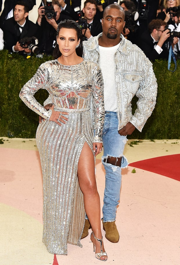 Kim Kardashian and Kanye West   Cutest Couples at the Met ...