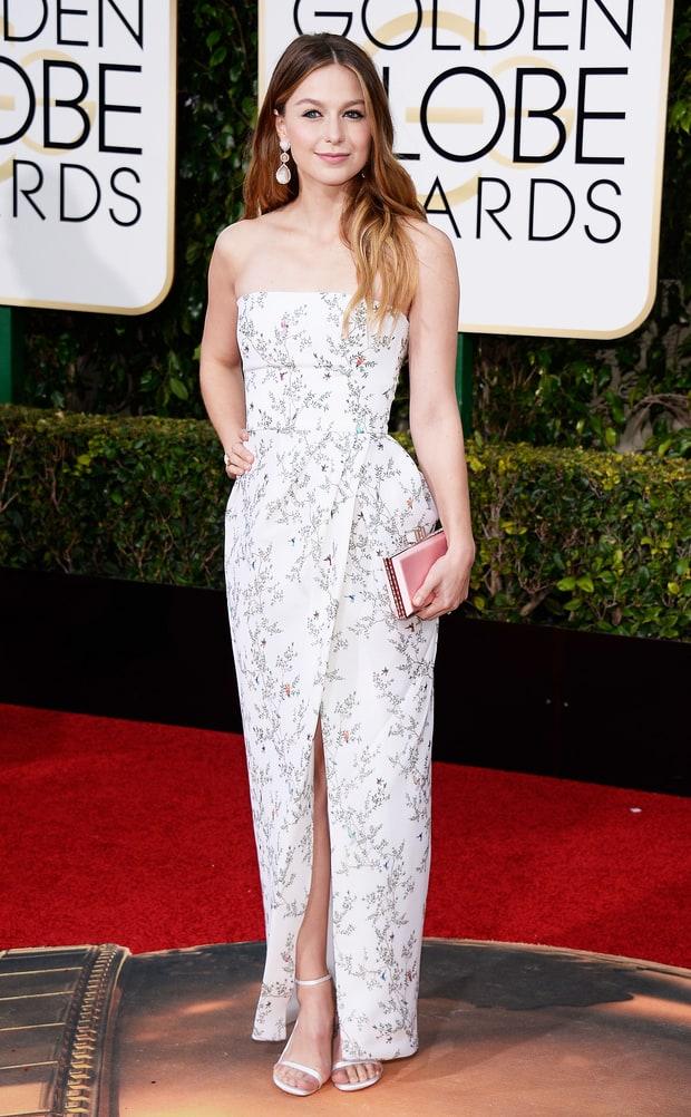 Melissa Benoist Golden Globes 2016 Red Carpet Fashion