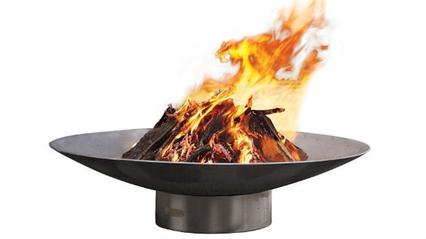 Bella Vita Stainless Steel Fire Pit