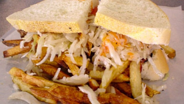 Capicola and Cheese Sandwich (Primanti Bros., PNC Park, Pittsburgh)