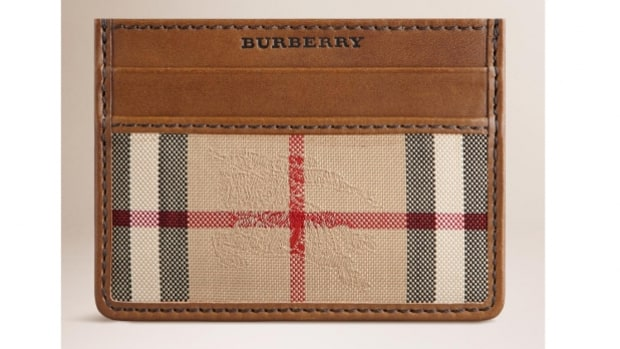Burberry Horseferry Check Card Case