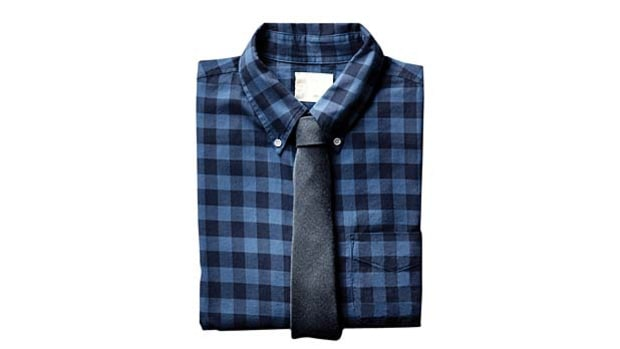 Band of Outsiders Flannel Plaid shirt