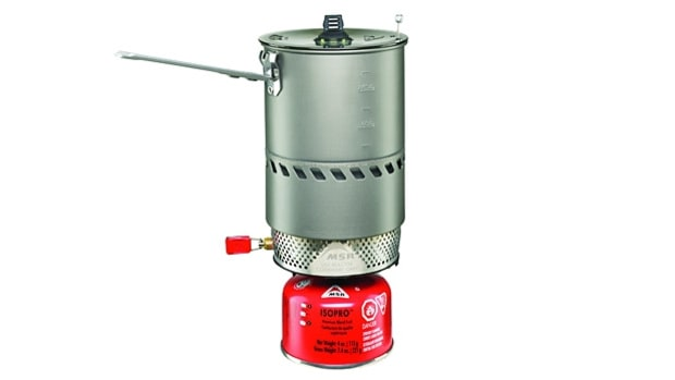 MSR Reactor Solo stove system.