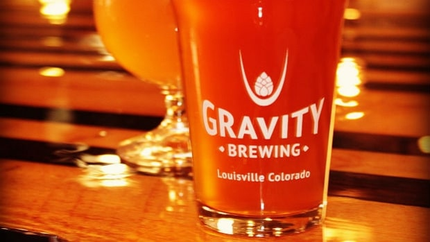 Gravity Brewing's Coolship Pomegranate Belgian Wit: Louisville, Colorado