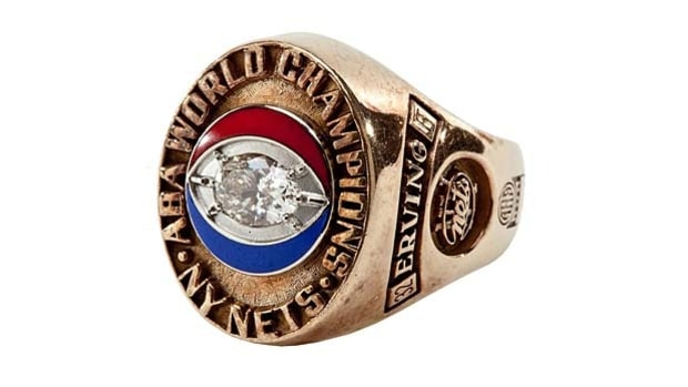 Julius Erving's ABA Championship Ring