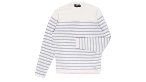 Nautical: Paul Smith's White Reverse Stripe