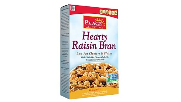 Peace Cereal Hearty Raisin Bran