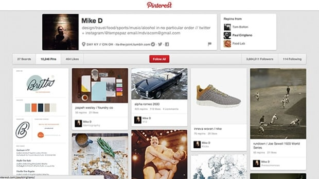 Pinterest is for curating.