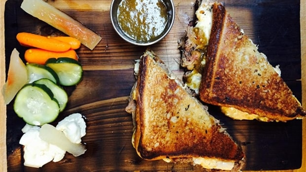 Grilled Cheese Sandwich With Green Tomato And Jalapeno Jam Recipe ...