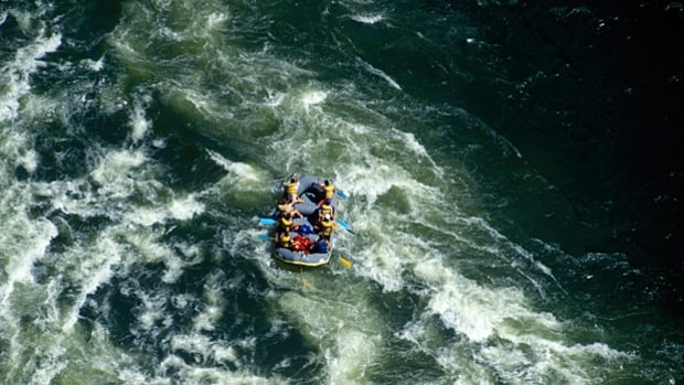 Rafting the Zambezi River in Zambia
