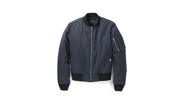 Ernest Alexander Rubberized Leather Bomber | The Best Bomber