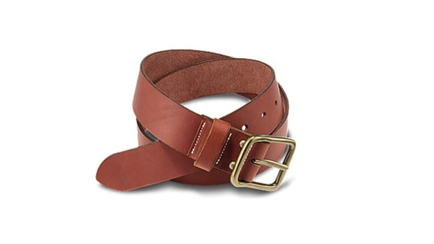 Red Wing Pioneer belt in oro russet