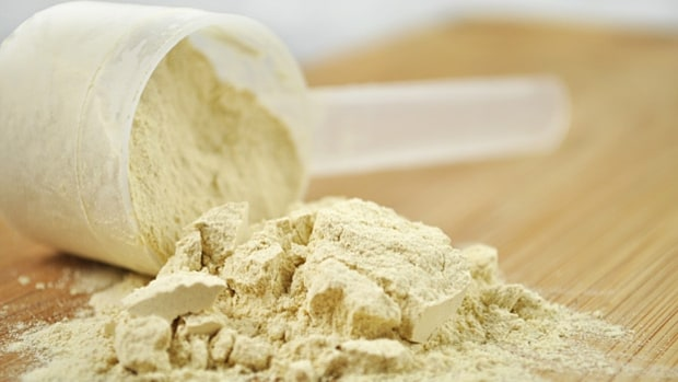 Whey protein to improve strength and muscle mass.