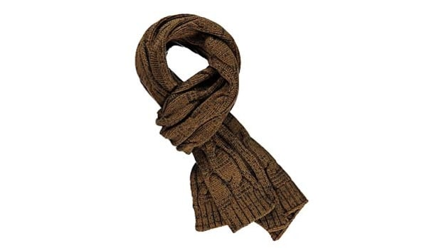 Suitsupply Tabacco Cable-Knit Scarf
