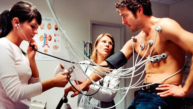 EKGs or other heart stress tests during a physical