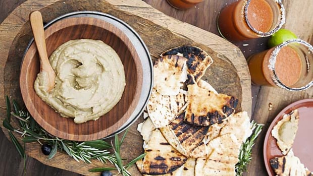 Baba Ganoush With Grilled Pita.