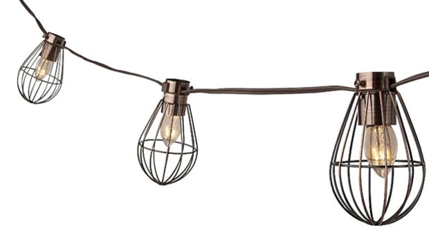 Smith & Hawken Caged Lantern String Light
