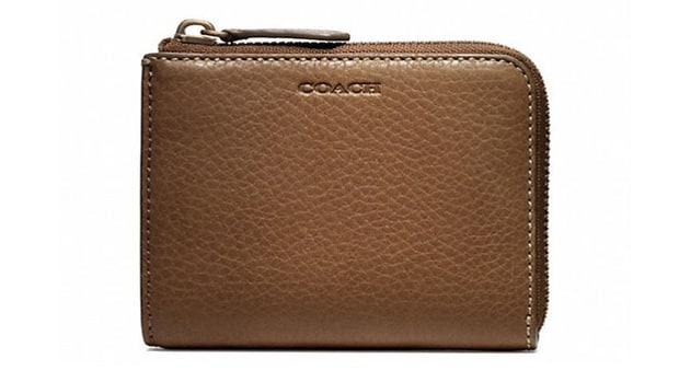 Coach Bleecker Half Zip Wallet