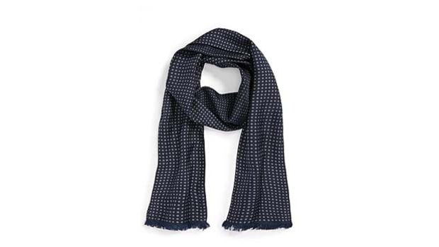 The Kooples Dot-Print Silk Scarf